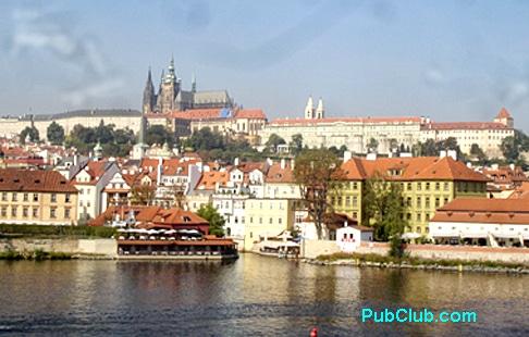 Prague Castle from river