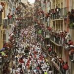Running of the Bulls balcony