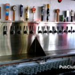 Craft beer bar taps