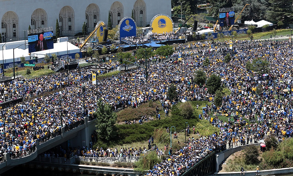 85a348739e939 Golden State Warriors To Hold Championship Parade Thursday