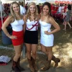 Alabama football tailgate party Bama belles