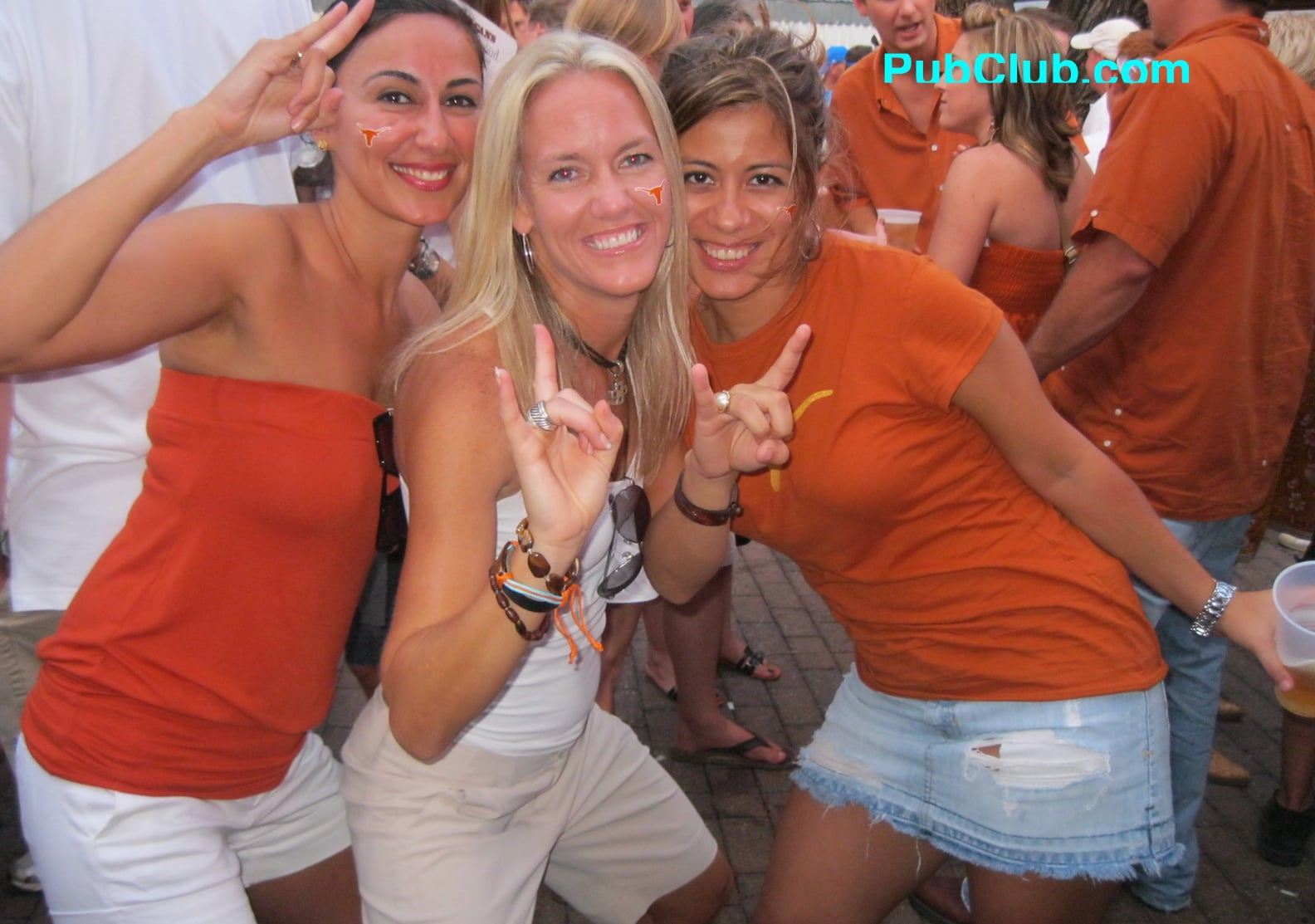 Texas football tailgate party cute girls
