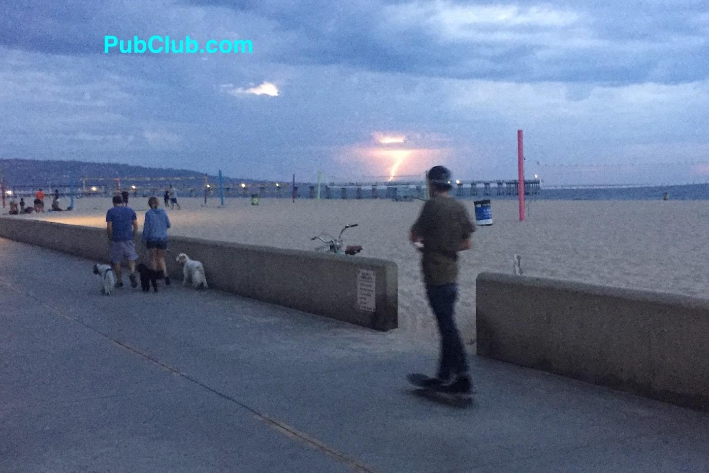 Hermosa Beach Lightening Skateboarder