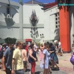 Grauman's Chinese Theater Hollywood tourists footprints