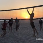 Beach volleyball sunset Hermosa Beach California