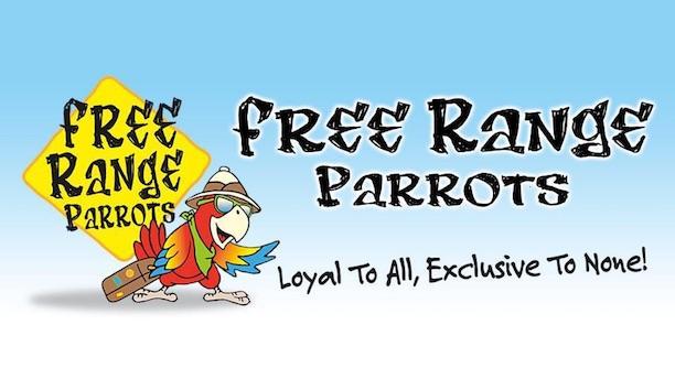 Ozarks Fest Free Range Parrots banner