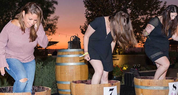 Temecula Valley wine harvest grape stomping event