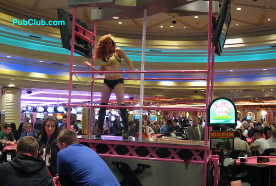 Las Vegas casino dancing girl
