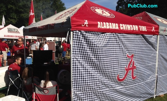 Alabama football tailgate party tent