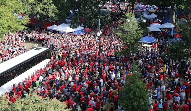 Ole Miss football tailgate party the Grove