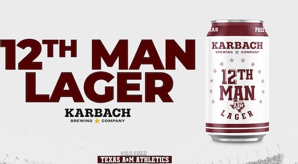 12th Man Lager Texas A&M beer