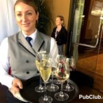 champagne tray waitress